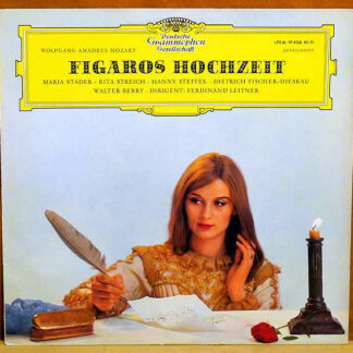 Wolfgang Amadeus Mozart, Berliner Philharmoniker, Ferdinand Leitner - Figaros Hochzeit (Querschnitt) (LP, Mono)
