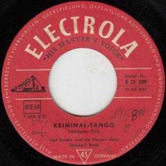 Ralf Bendix Und Die Hansen Boys, Berlipp's Band - Kriminal Tango (7