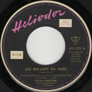 Melina Mercouri / Manos Hadjidakis - Les Enfants Du Pirée / Never On Sunday (7